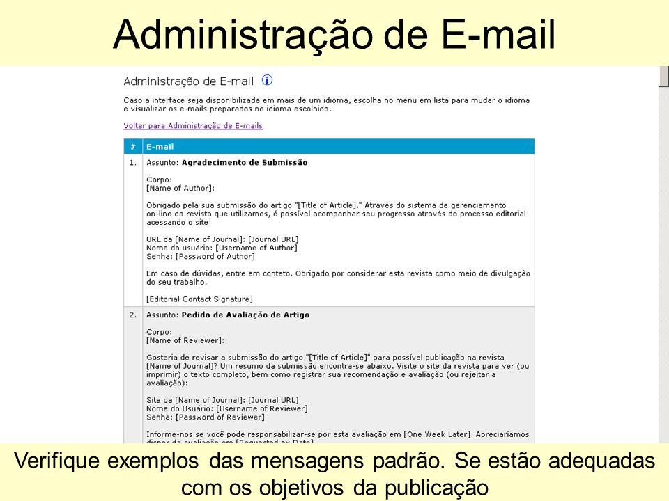 Administração de E-mail