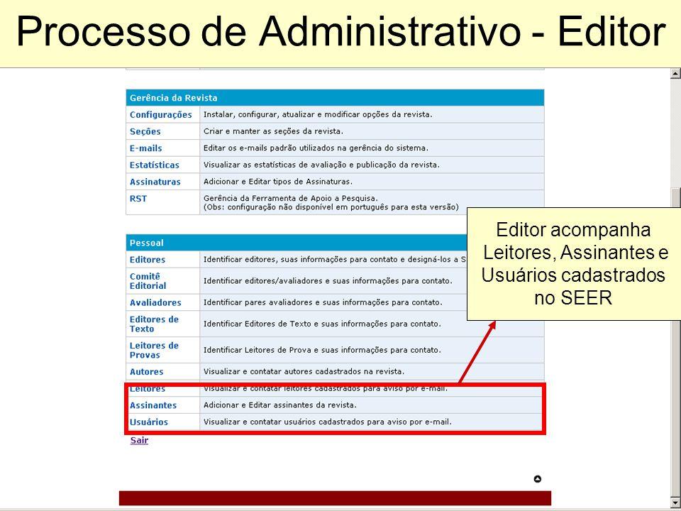 Processo de Administrativo - Editor