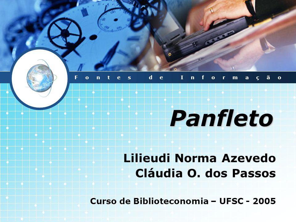 Panfleto Lilieudi Norma Azevedo Cláudia O. dos Passos