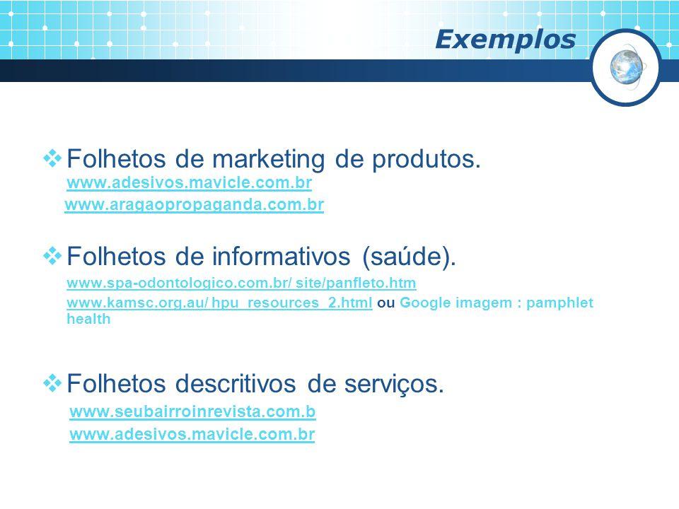 Folhetos de marketing de produtos. www.adesivos.mavicle.com.br