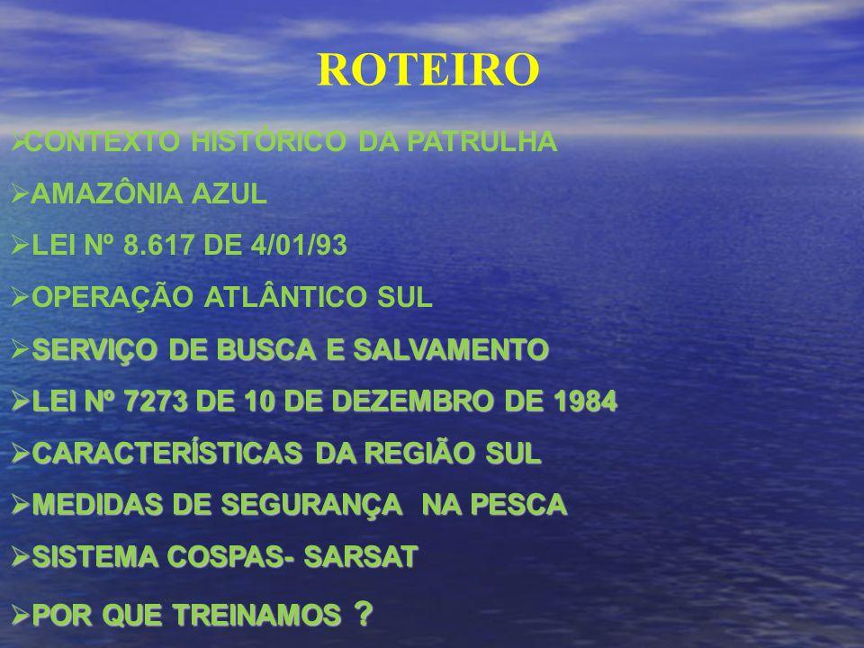 ROTEIRO CONTEXTO HISTÓRICO DA PATRULHA AMAZÔNIA AZUL