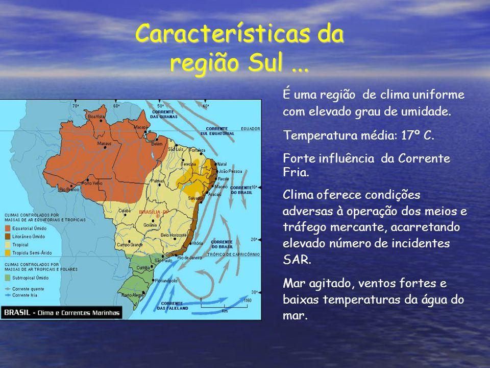 Características da região Sul ...