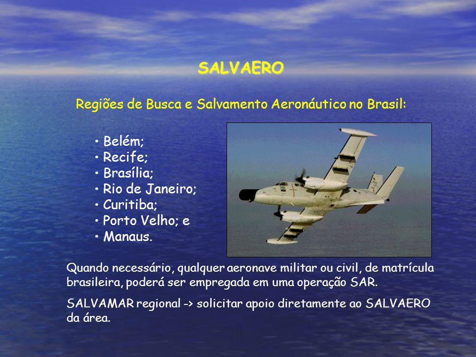 Regiões de Busca e Salvamento Aeronáutico no Brasil: