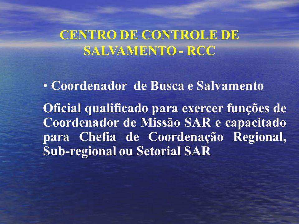 CENTRO DE CONTROLE DE SALVAMENTO - RCC