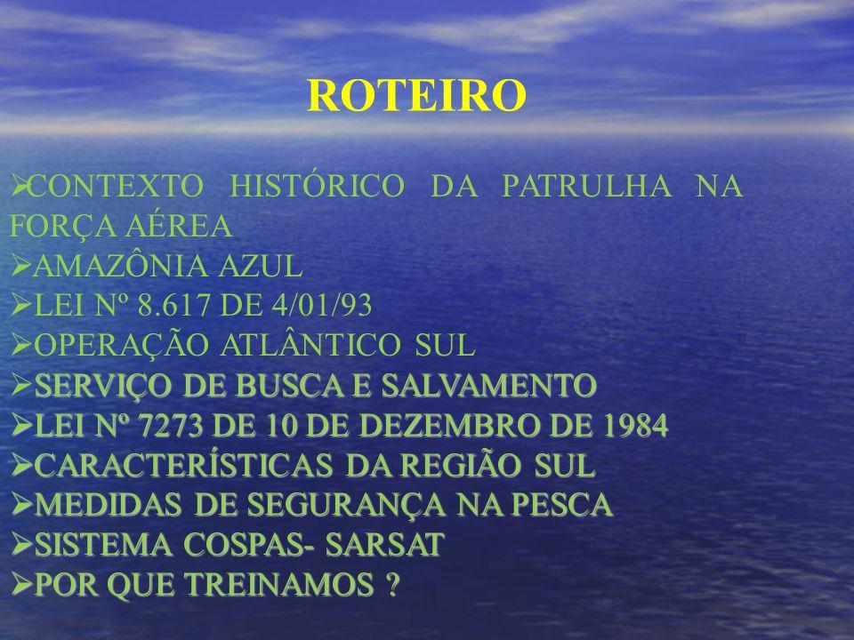 ROTEIRO CONTEXTO HISTÓRICO DA PATRULHA NA FORÇA AÉREA AMAZÔNIA AZUL