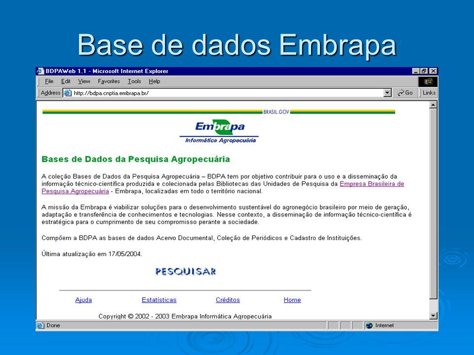 Base de dados Embrapa
