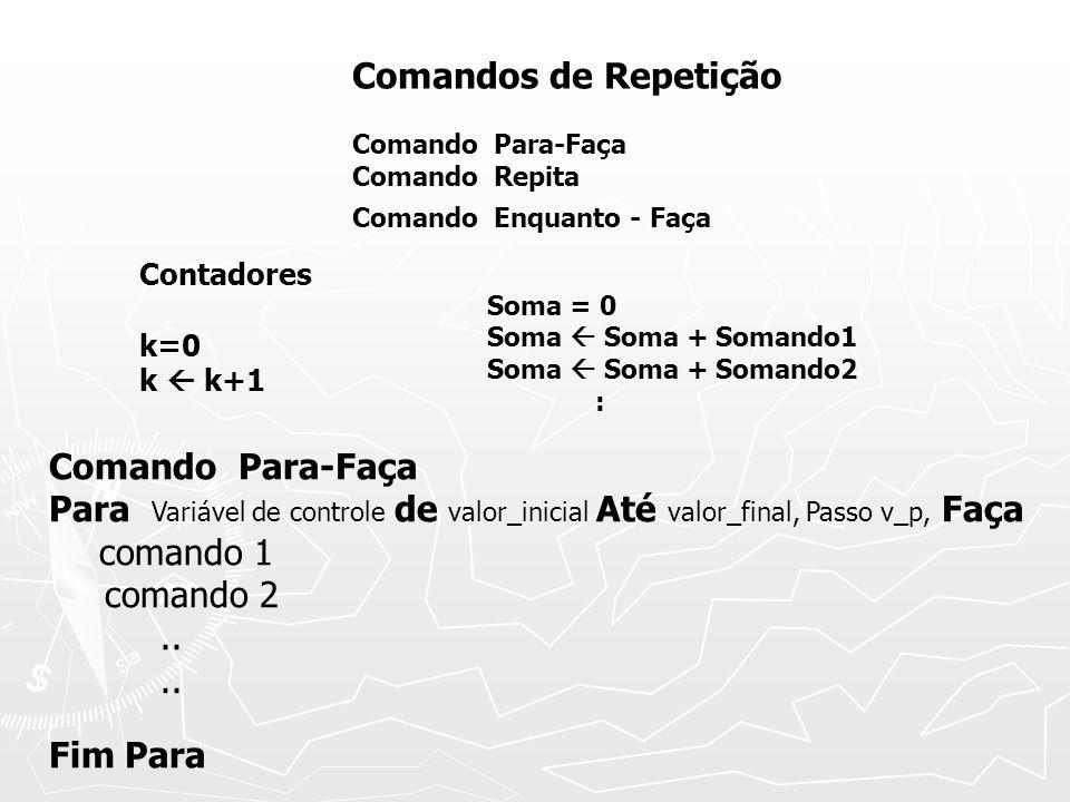 Comandos de Repetição Comando Para-Faça