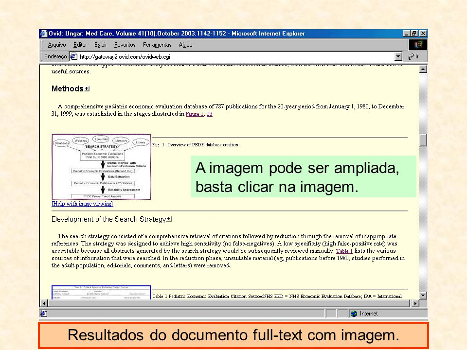 Resultados do documento full-text com imagem.