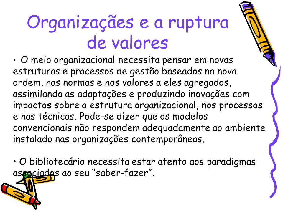 Organizaçães e a ruptura de valores