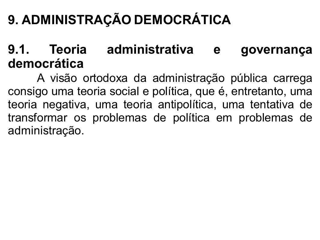 9. ADMINISTRAÇÃO DEMOCRÁTICA