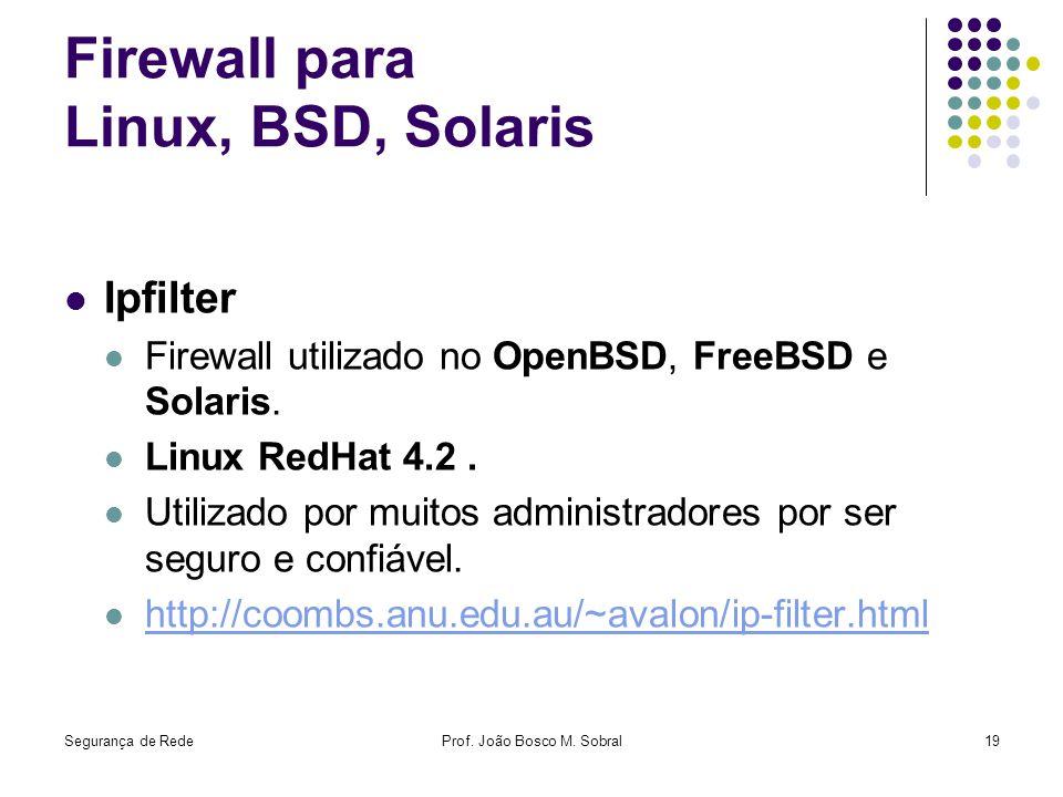Firewall para Linux, BSD, Solaris
