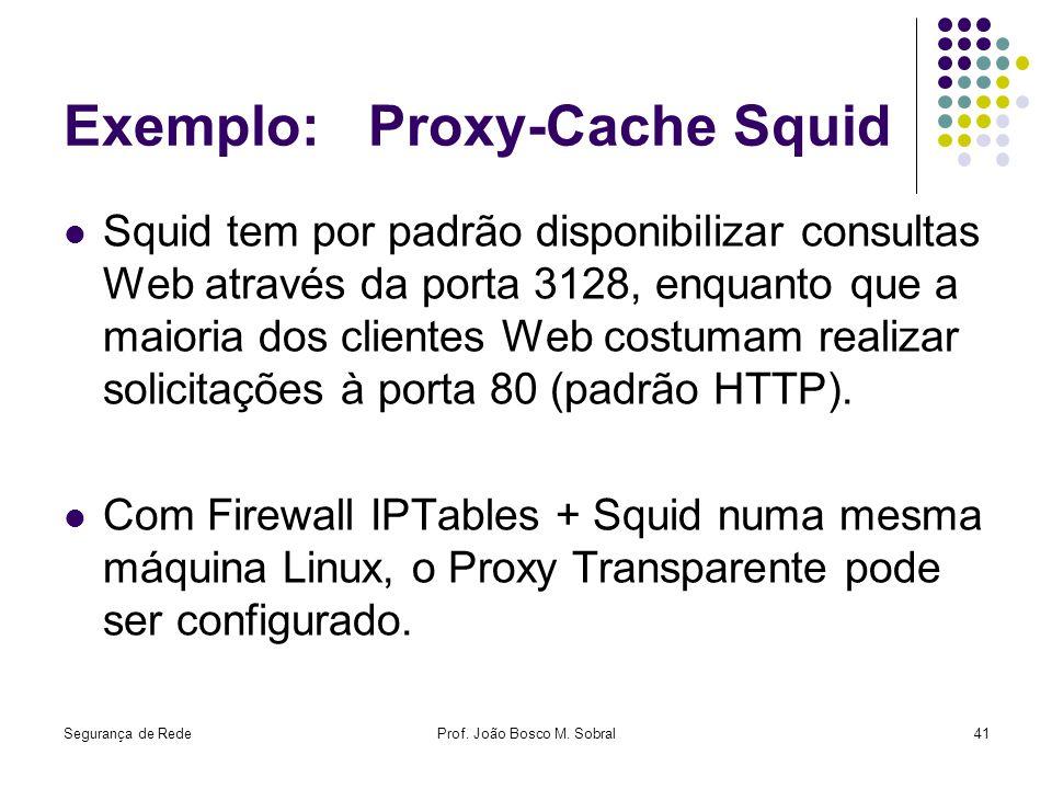 Exemplo: Proxy-Cache Squid