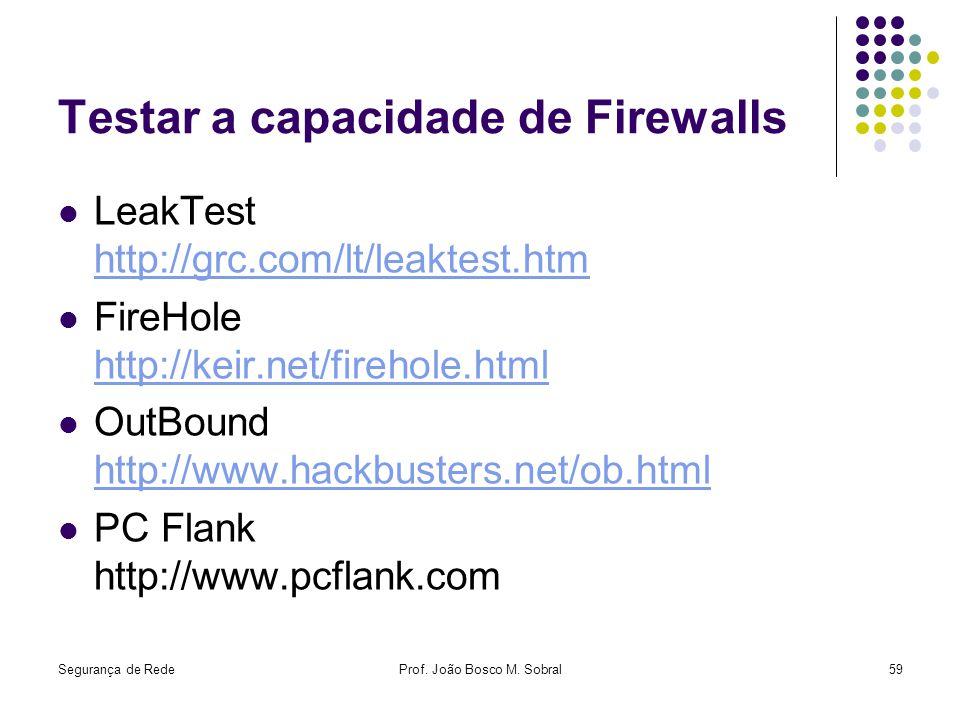 Testar a capacidade de Firewalls