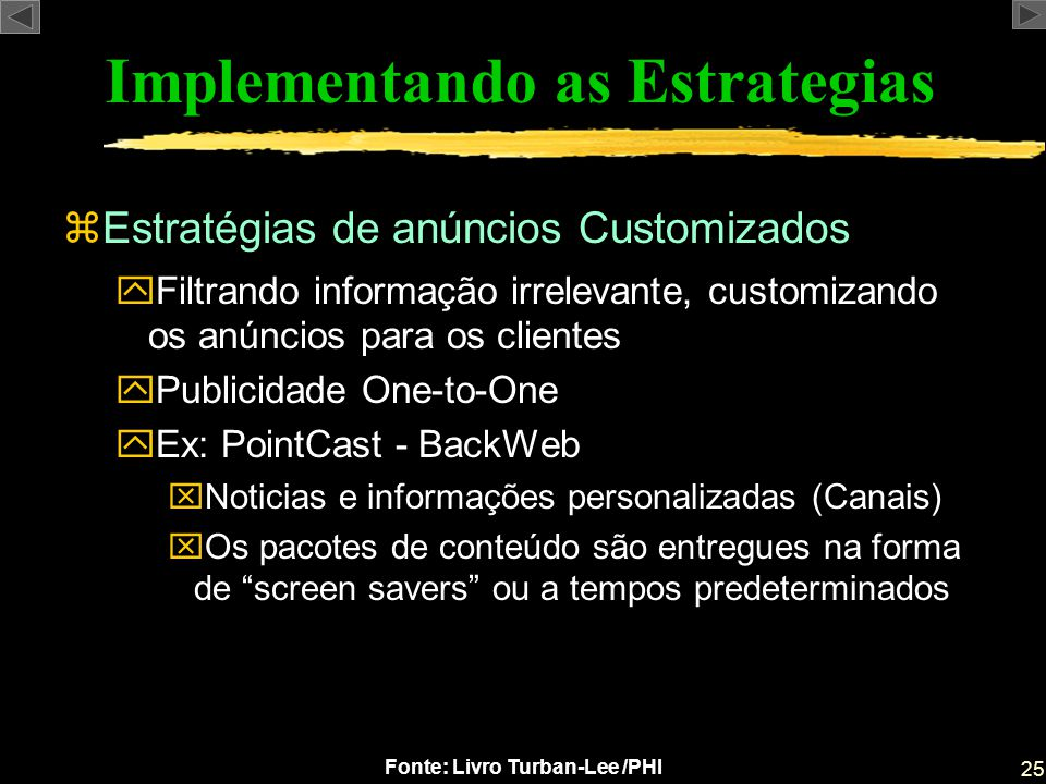 Implementando as Estrategias