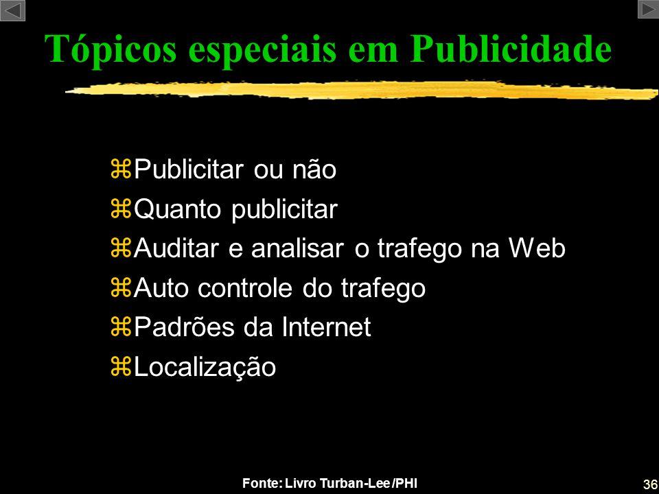 Tópicos especiais em Publicidade