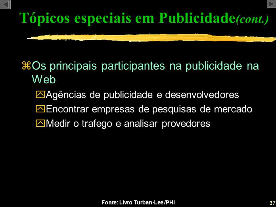 Tópicos especiais em Publicidade(cont.)
