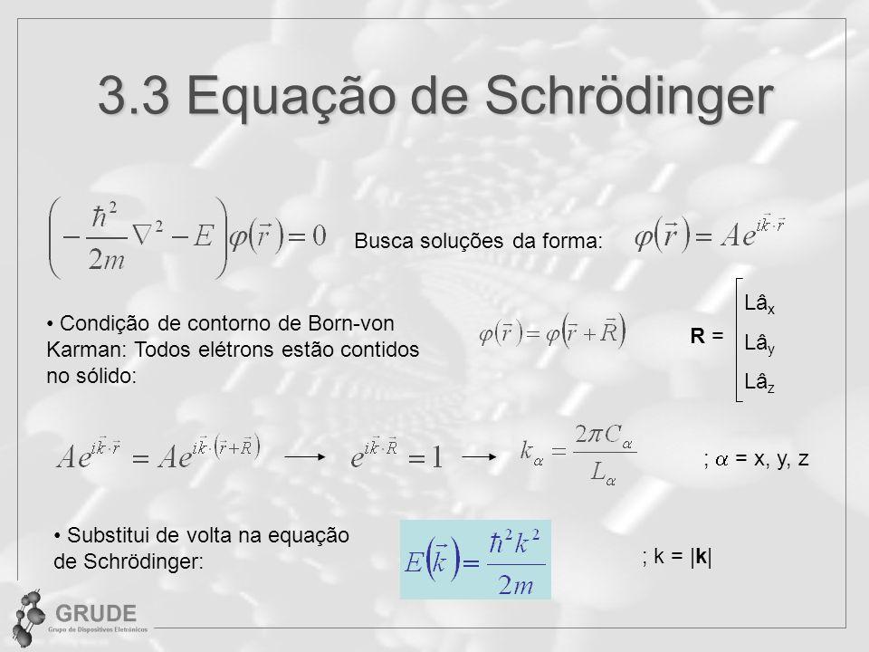 3.3 Equação de Schrödinger