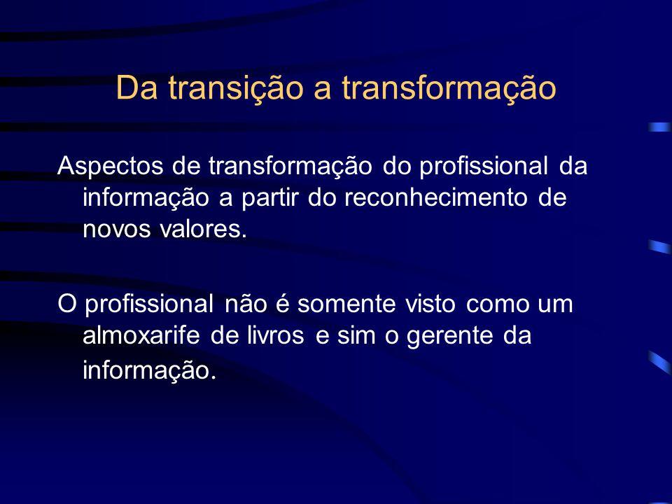 Da transição a transformação