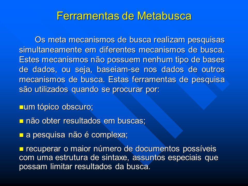 Ferramentas de Metabusca