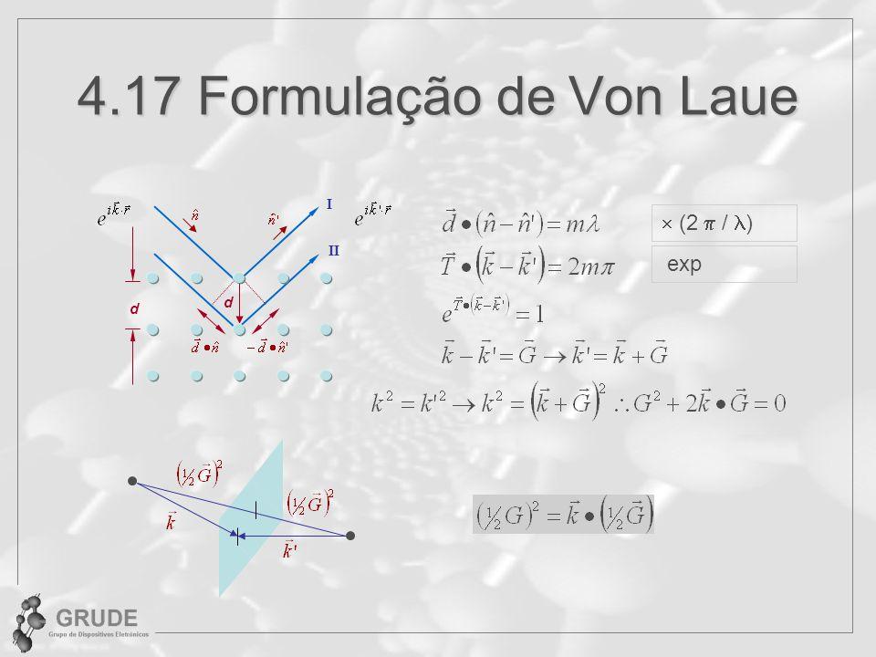 4.17 Formulação de Von Laue I  (2 / ) II exp d d