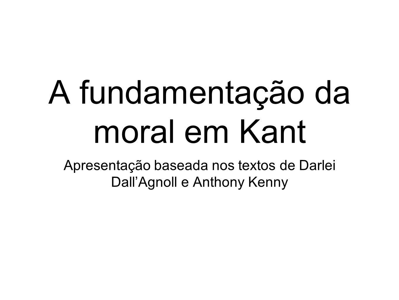 A fundamentação da moral em Kant