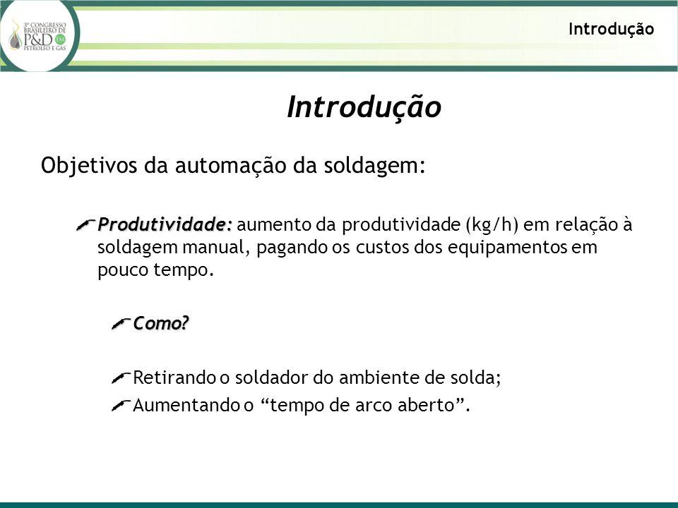 Introdução Objetivos da automação da soldagem: