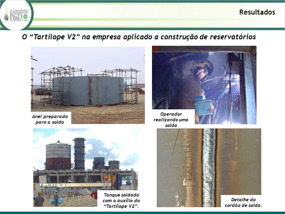 O Tartílope V2 na empresa aplicado a construção de reservatórios