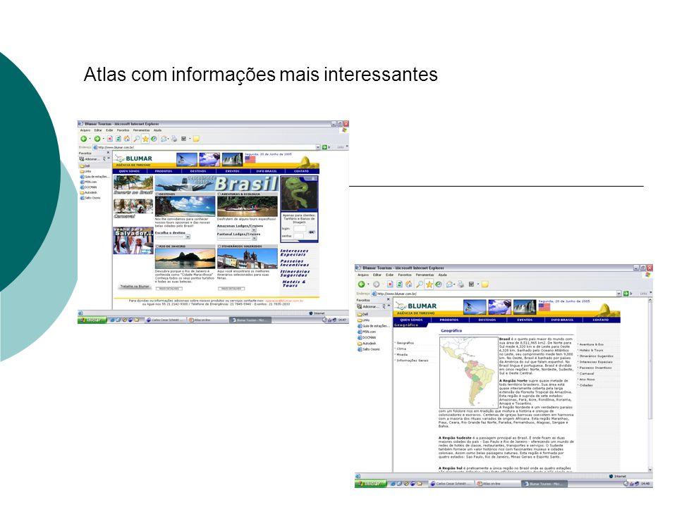 Atlas com informações mais interessantes
