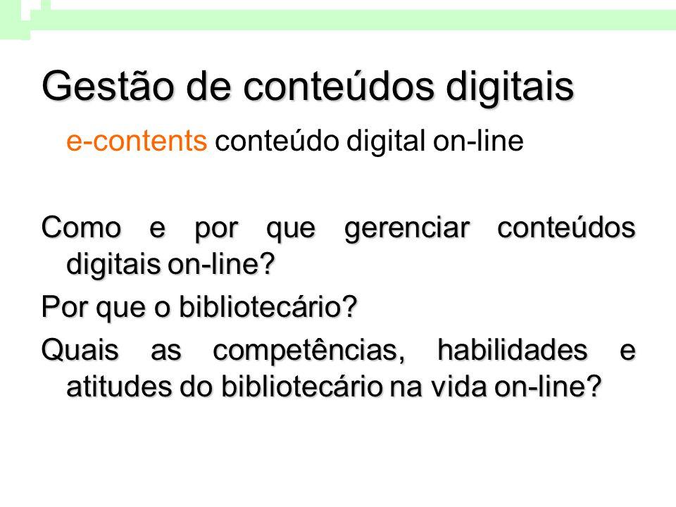 Gestão de conteúdos digitais