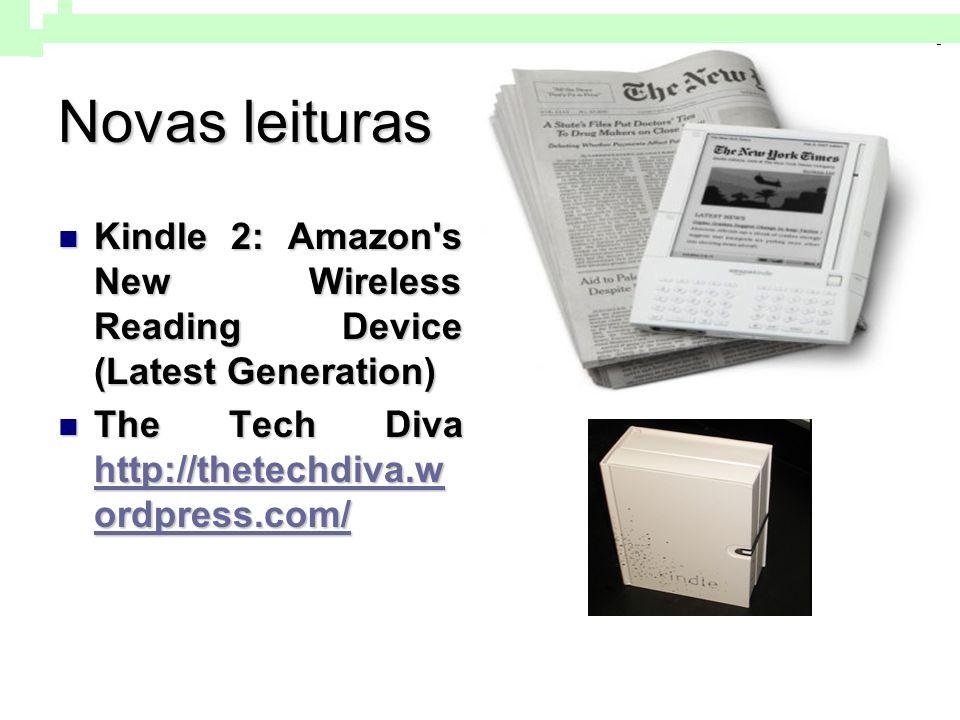 Novas leituras Kindle 2: Amazon s New Wireless Reading Device (Latest Generation) The Tech Diva http://thetechdiva.wordpress.com/