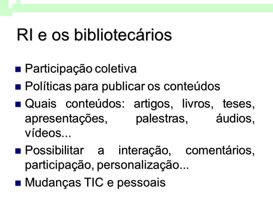 RI e os bibliotecários Participação coletiva