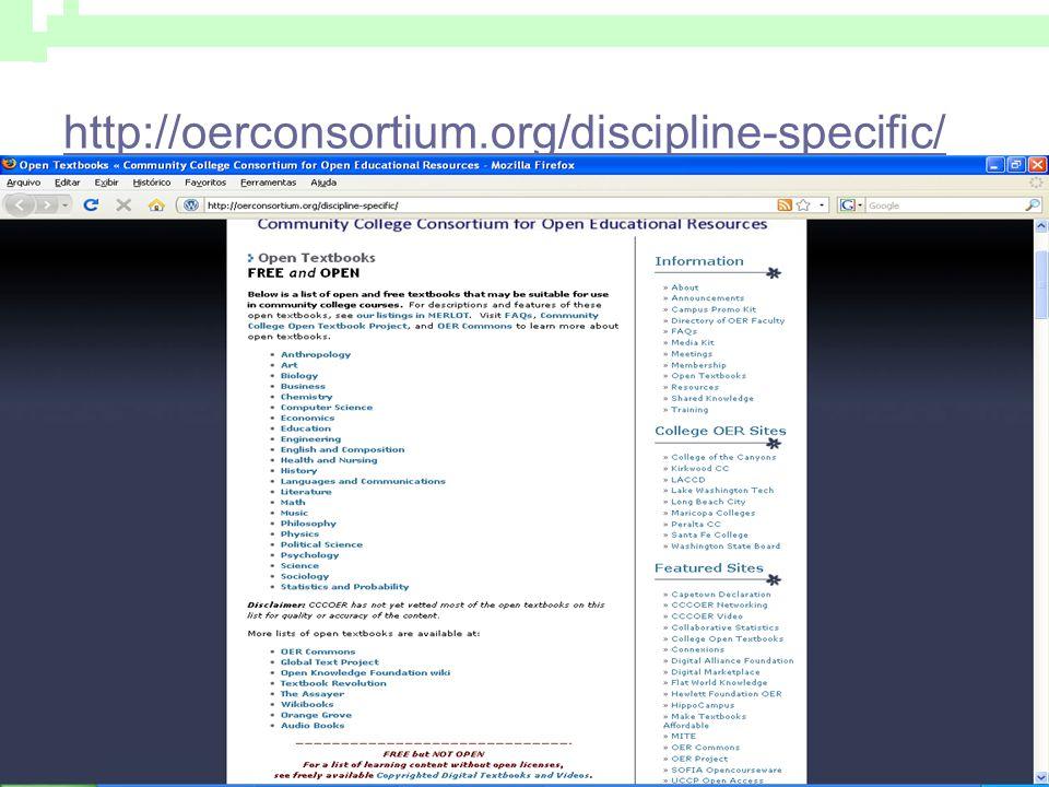 http://oerconsortium.org/discipline-specific/