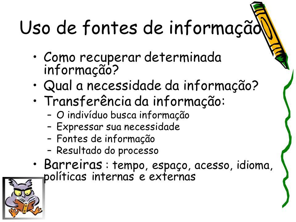 Uso de fontes de informação