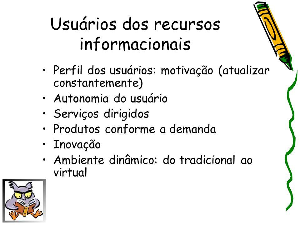 Usuários dos recursos informacionais