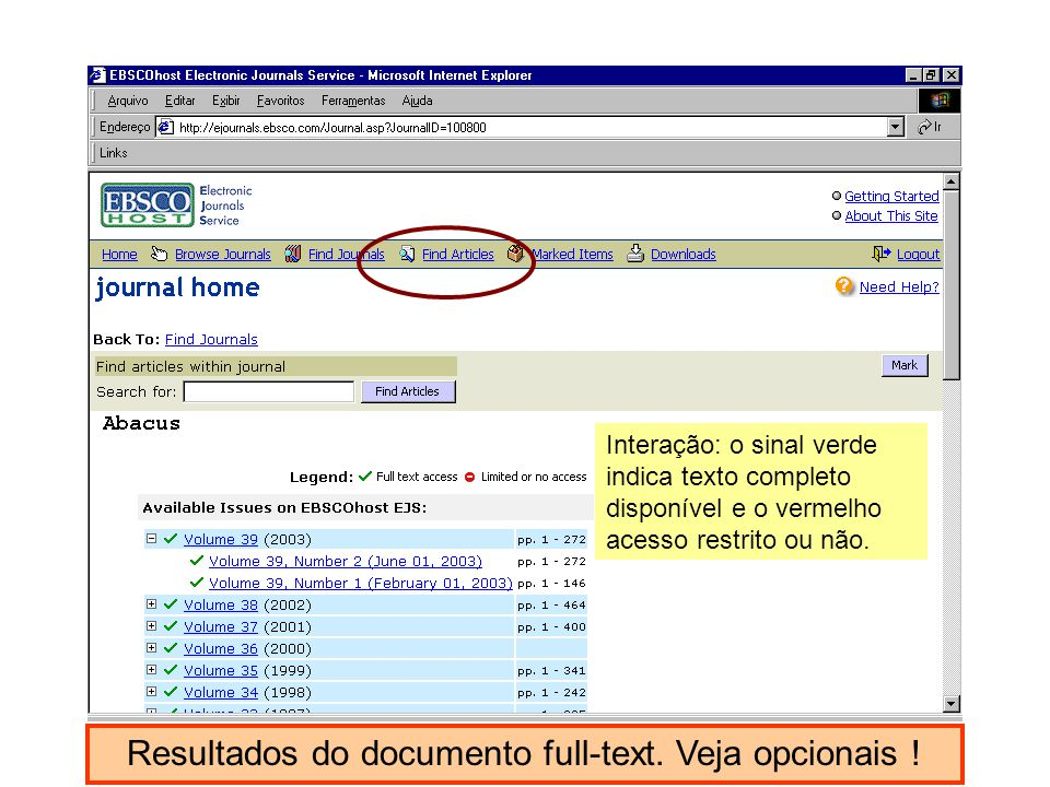 Resultados do documento full-text. Veja opcionais !