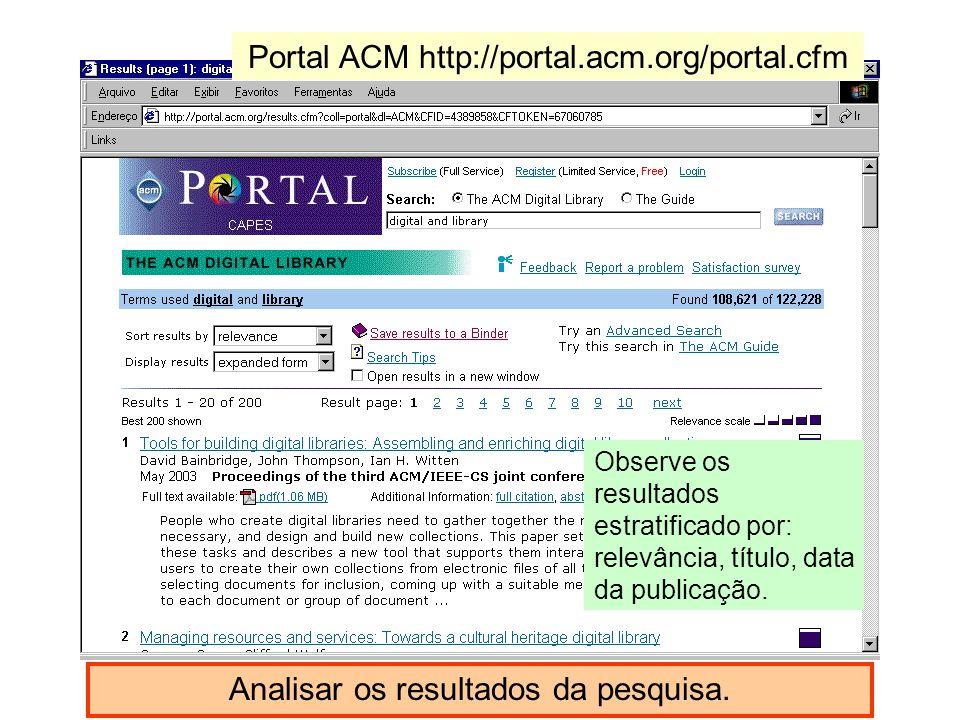 Portal ACM http://portal.acm.org/portal.cfm