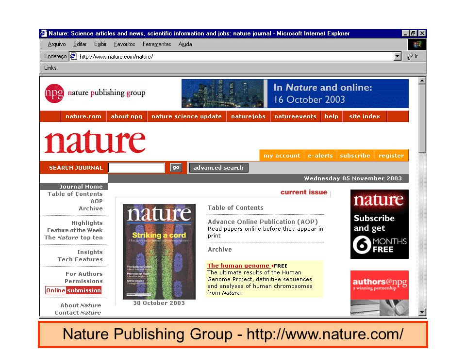 Nature Publishing Group - http://www.nature.com/