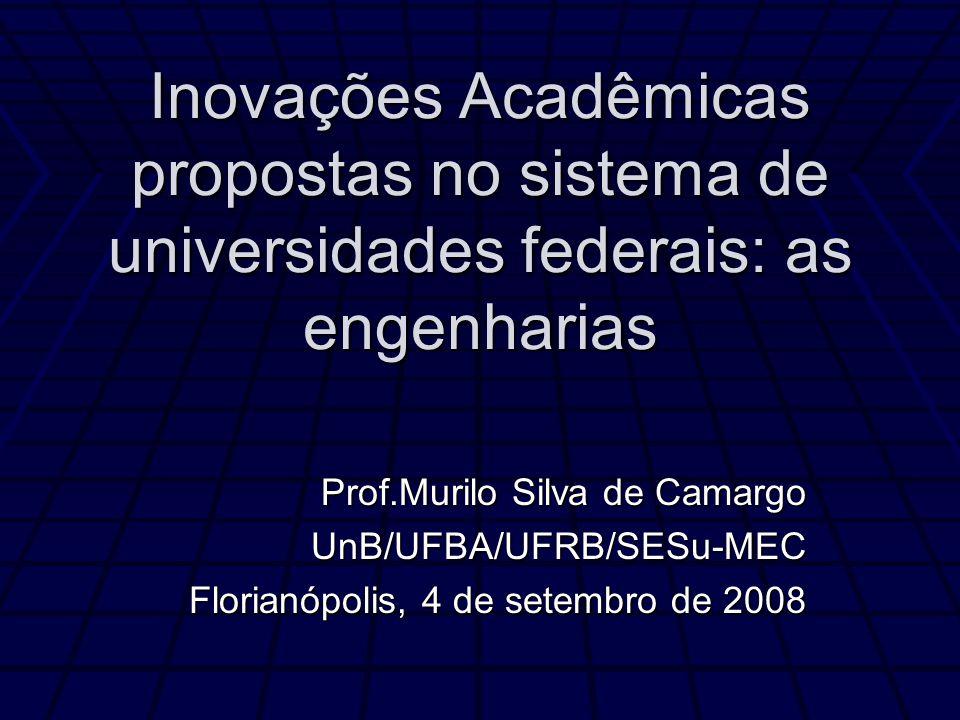 Inovações Acadêmicas propostas no sistema de universidades federais: as engenharias