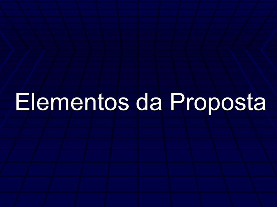 Elementos da Proposta 33