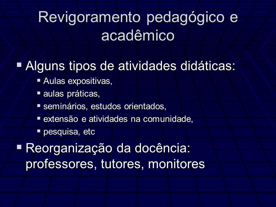 Revigoramento pedagógico e acadêmico