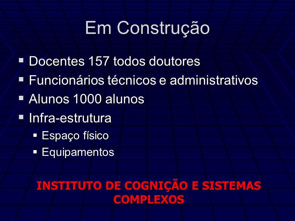 INSTITUTO DE COGNIÇÃO E SISTEMAS COMPLEXOS