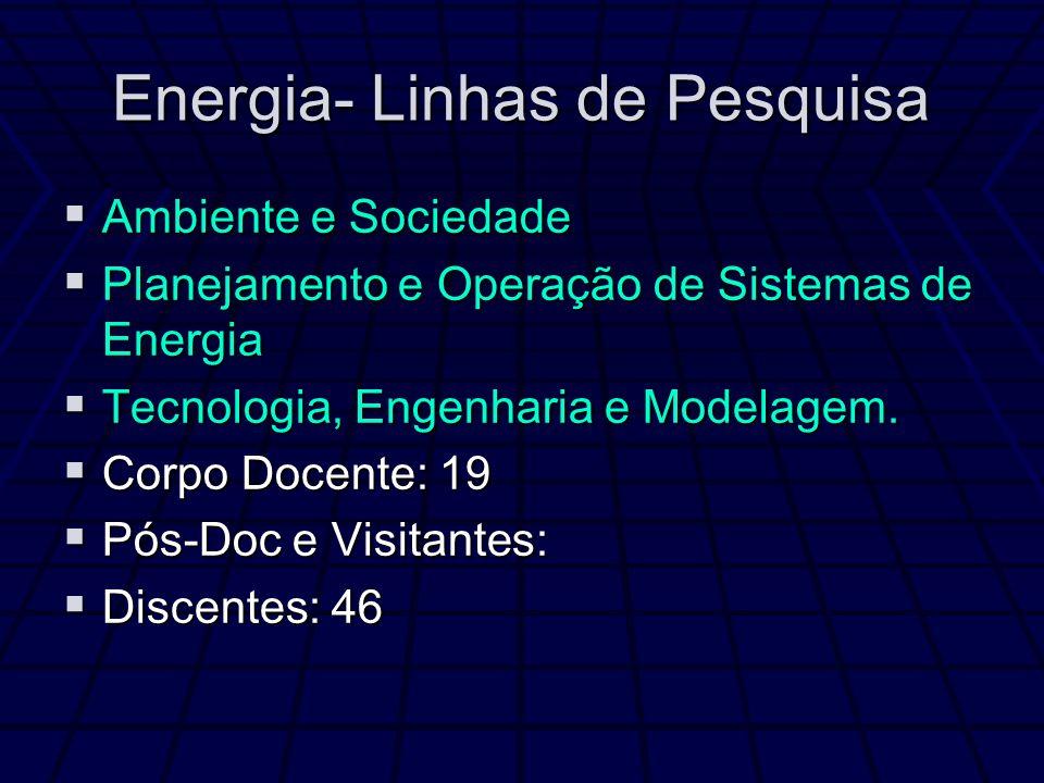 Energia- Linhas de Pesquisa