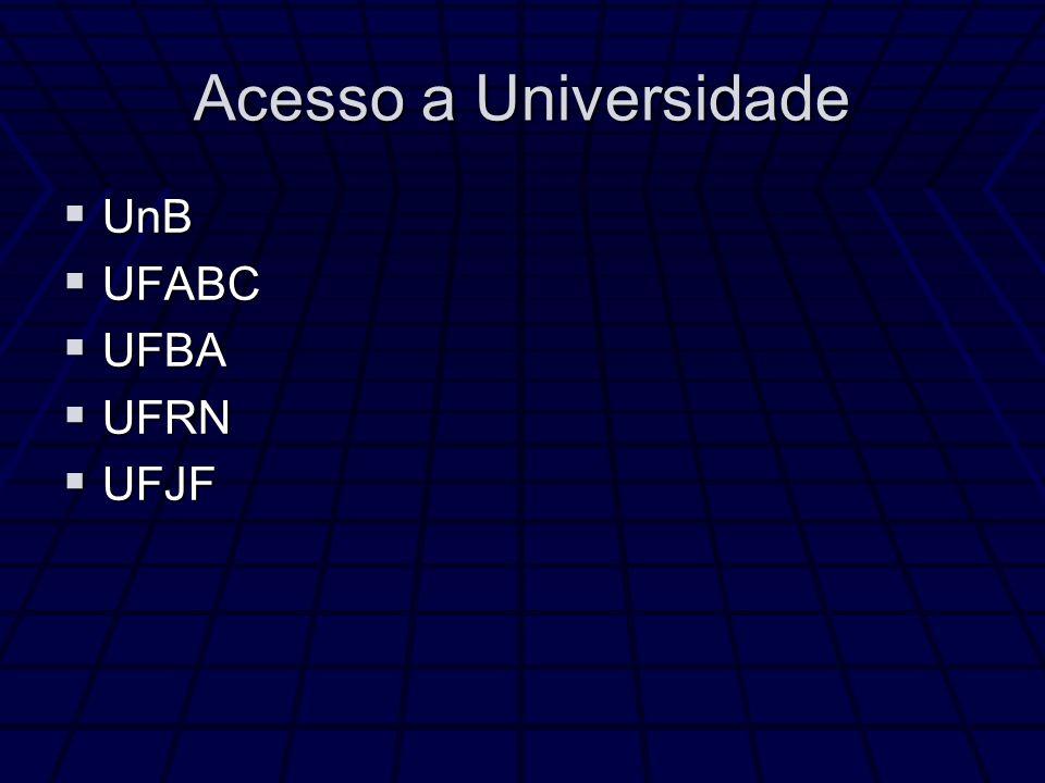 Acesso a Universidade UnB UFABC UFBA UFRN UFJF