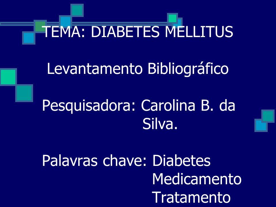 TEMA: DIABETES MELLITUS