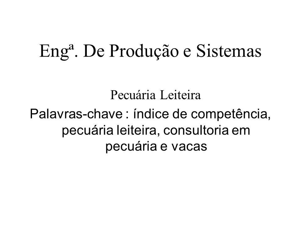 Engª. De Produção e Sistemas