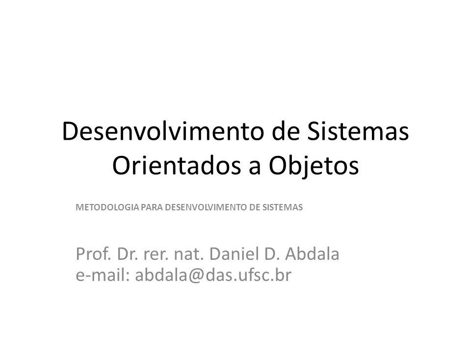 Desenvolvimento de Sistemas Orientados a Objetos
