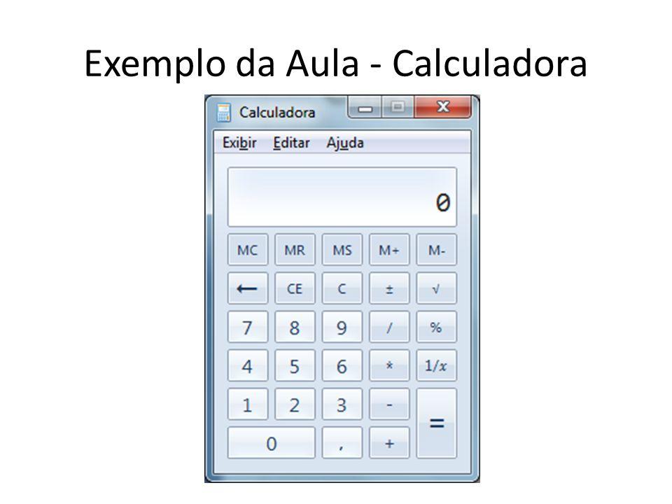 Exemplo da Aula - Calculadora