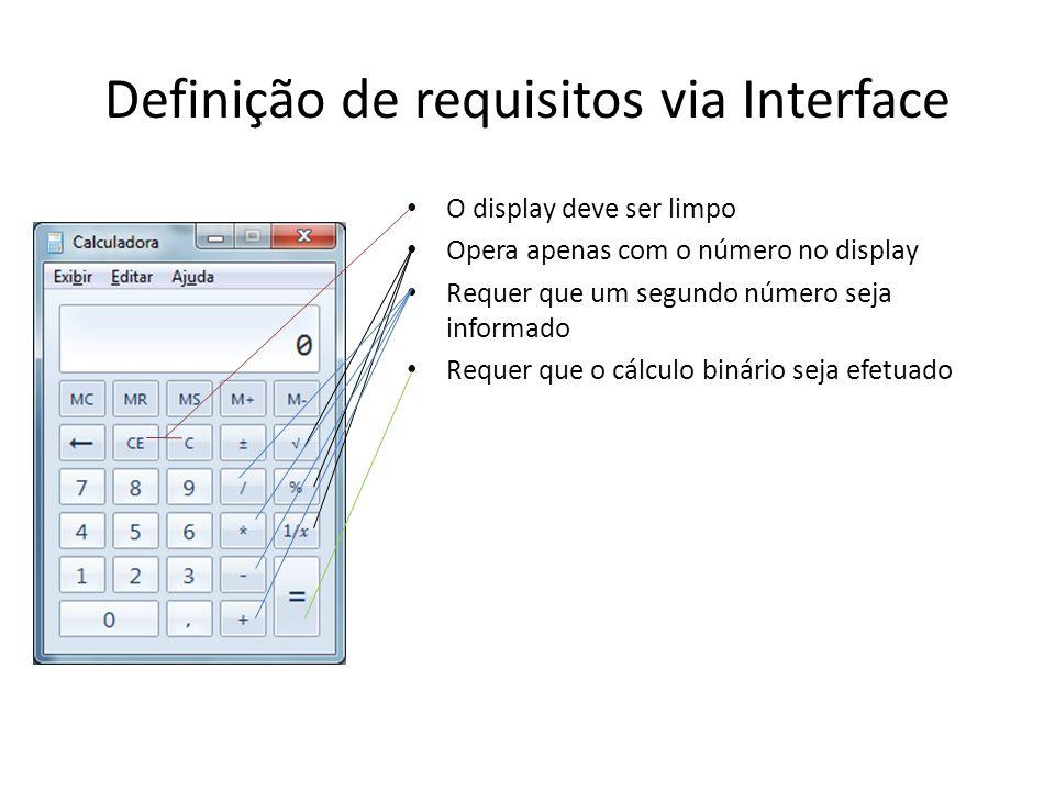 Definição de requisitos via Interface