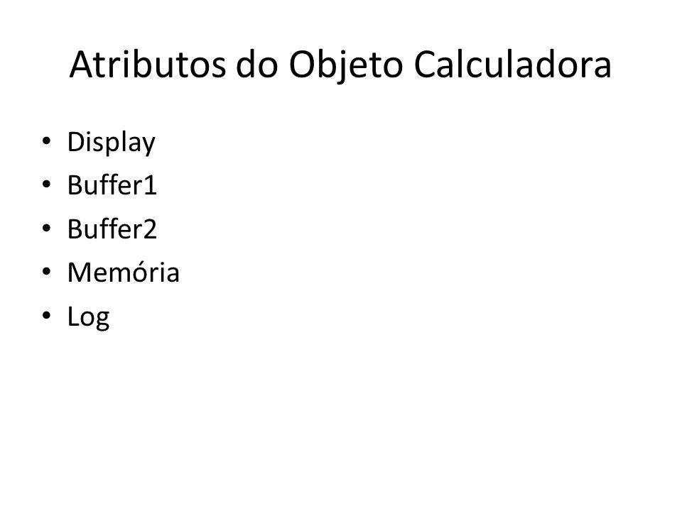 Atributos do Objeto Calculadora