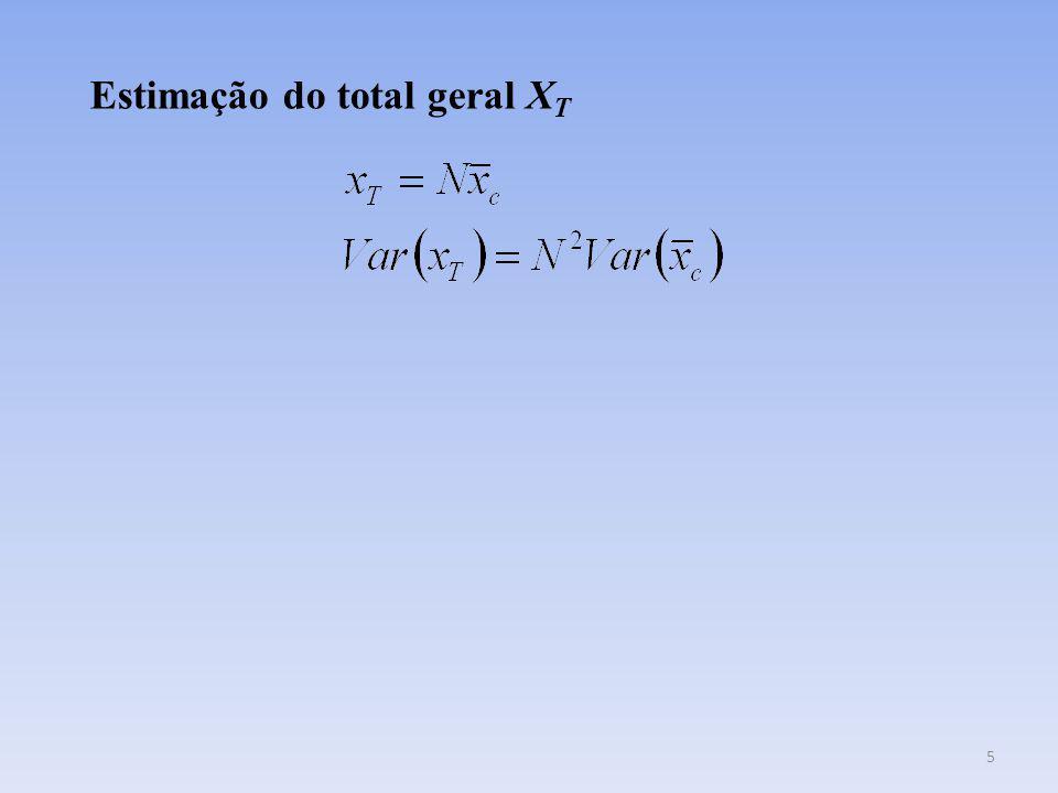 Estimação do total geral XT